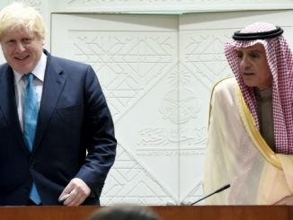 boris johnson in saudi arabia